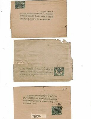 Queensland 1/2d NEWSPAPER WRAPPERs Commercially Used  ( 3 items)