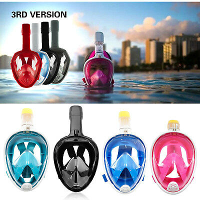 Snorkel Mask Full Face Diving Swimming Goggle Surface Snorkeling Pipe For GoPro
