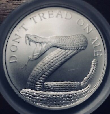 2018 Silver Shield 1 oz Don't Tread on Me .999 Fine Silver Round