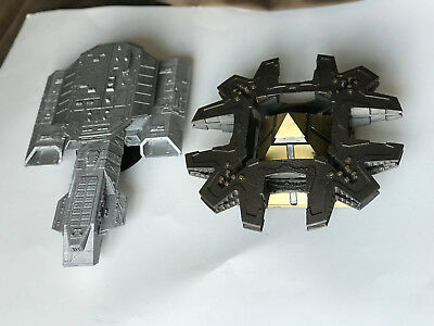 Stargate SG-1 Daedalus ship and Goa'uld mothership