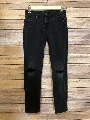 Lucky Brand Girls Distressed Fitted Zoe Jegging Gray  Jeans Size 10