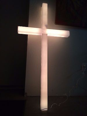 Lighted Holiday Christmas Or Easter Inspirational Cross Indoor/outdoor