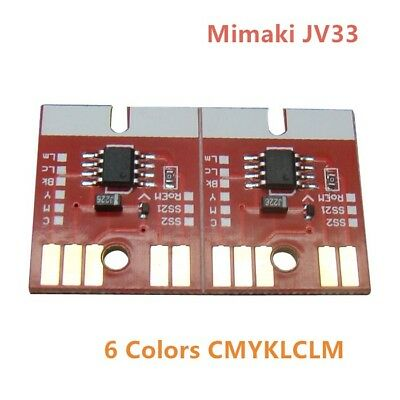 New Version Chip Permanent for Mimaki JV33 SB52 Cartridge 6 Colors CMYKLCLM