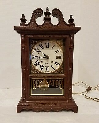 Vintage Miniature Electric Grandfather Clock By Spartus Regulator