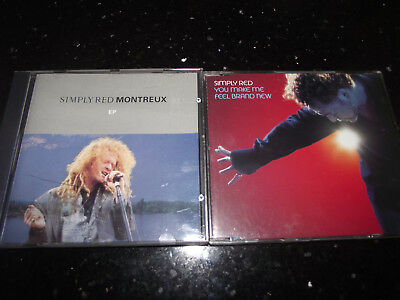 Ex Lot Of 2 Simply Red Cd Singles/eps Montreaux/you Make Me Feel Brand New 1992