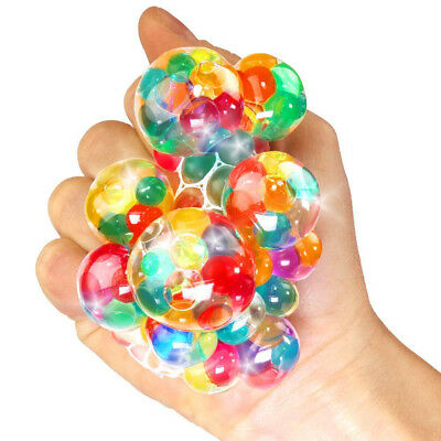 German Trendseller® - 6 x Ultra Squishy - Regenbogen Quetsch-Ball | Anti Stress