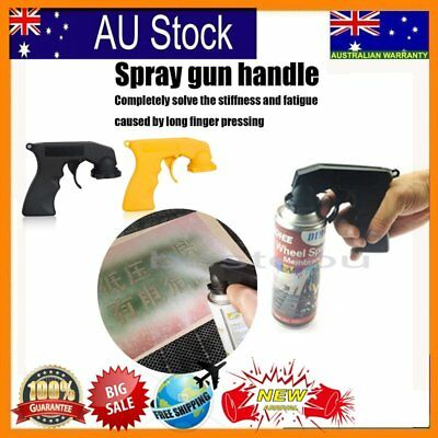 Aerosol Spray Gun Can Handle Full Grip Trigger Locking Painting Gun Holder N@