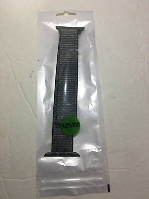 Apple Watch Band 42mm Nylon In The Color Gray