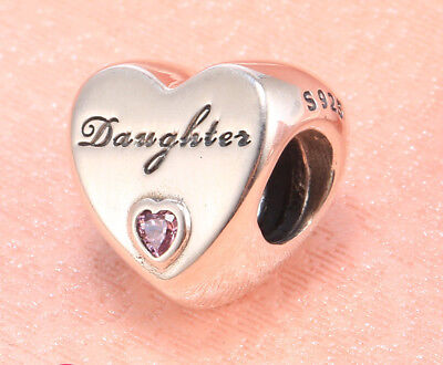 Genuine Pandora Silver Daughter's Love Charm Bead 791726PCZ