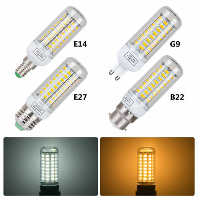 E27 E14 B22 G9 GU10 5730 SMD 9W 12W 15W LED Maïs Ampoule Blanc chaud froid Lampe