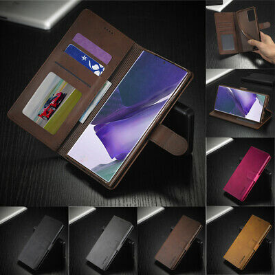 For Samsung S9 S8 A9 A8 A7 J6 Plus 2018 Magnetic Flip Leather Wallet Case Cover