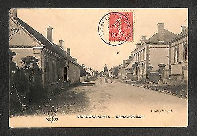 10 - VULAINES - Route Nationale - 1906