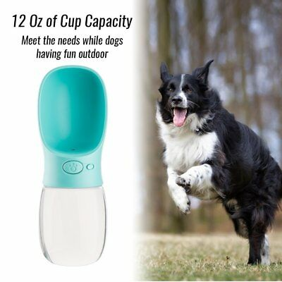350ml Cat Dog Water Bottle Portable Pet Drinking Dispenser Feeder for Outdoor GO