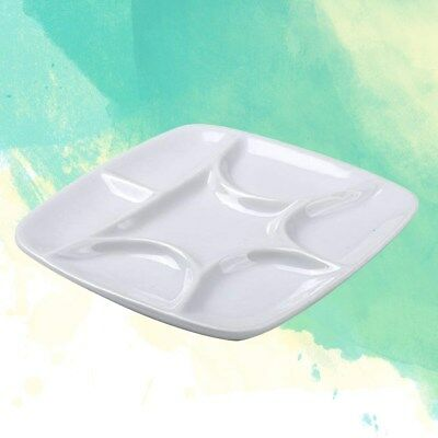 1PC Square Imitation Ceramic Paint Tray Watercolor Painting Plastic Tray for DIY