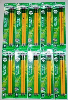 Set of 20 My First Ticonderoga  #2 HB Oversized Sharpened Pencils 33306 - NEW.