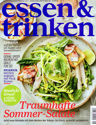 essen & trinken August 2018 Magazin Picknick Tomaten Streusel Sommer Salate