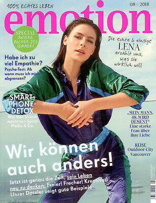 emotion Magazin August 2018 Frauen Empathie Special Sommer Bücher Lena Detox