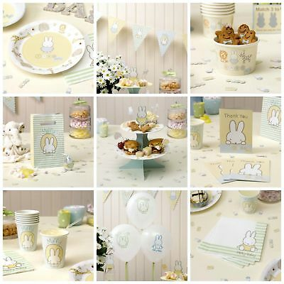 Baby Miffy Tableware & Decorations, Baby Shower / Baby's 1st Birthday Party Kit
