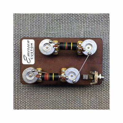 "Emerson Custom Les Paul Long Shaft 3/4"" Prewired Kit, 500K Pots, 0.022 & 0.015uf"