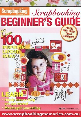 SCRAPBOOKING Beginners Card Making Guide Magazine with FREE PAPER KIT