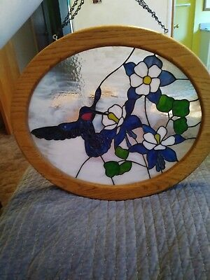 stained glass panel birds
