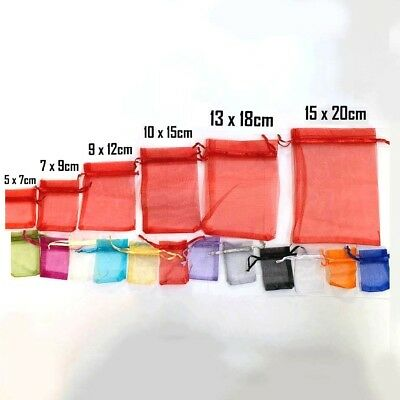 25 LUXURY Organza Many Sizes Gift Bags Jewelry Pouches  Wedding Party Candy