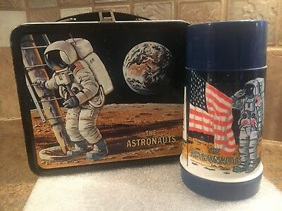 Vintage 1969 Aladdin Industries The Astronauts Lunchbox With Thermos