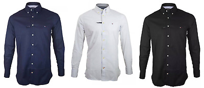 Exclusive Collared Tommy Hilfiger Shirts Long Sleeve Men's SLIM FIT Casual Top
