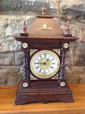 Edwardian Mantle Clock Lovely Condition, Repair Or Spares