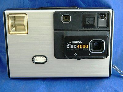 Vintage Kodak Disc 4000 Camera with Case - Excellent Condition - Fresh Battery!