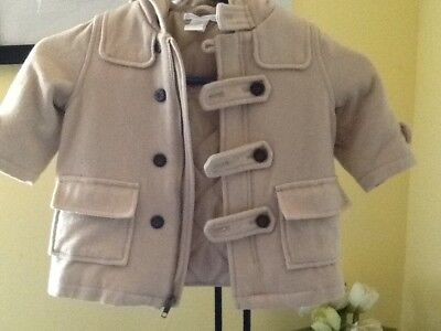 baby coat JANIE AND JACK 6-12 months beige beutiful ,special