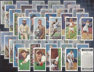 Ogdens-Full Set- Champions Of 1936 (50 Cards) - Exc