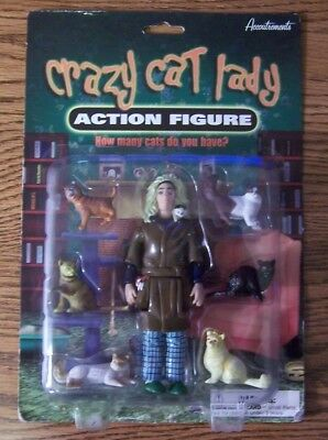 Crazy Cat Lady Action Figure With 6 Separate Cats by Accoutrements Unopened Box