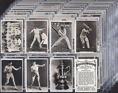 Pattreiouex-Full Set- Sporting Events & Stars (Mf96 Cards) Bobby Jones Joe Louis
