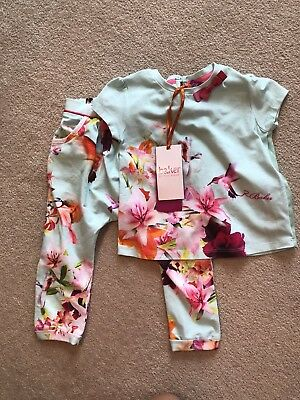 Brand New With Tags Floral Ted baker girls outfit 12/18 months Top & Trousers