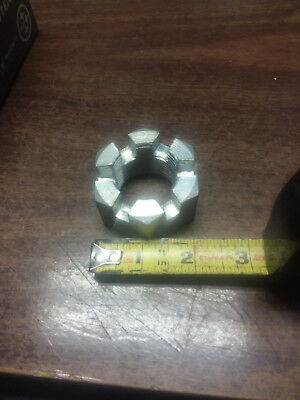 """1-3/8""""-12 Fine Thread Grade 5 Castle Nut Slotted Nut. MADE IN USA"""