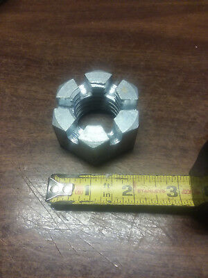 "1-3/8""-6 Coarse Thread Grade 5 Castle Nut Slotted Nut. MADE IN USA"