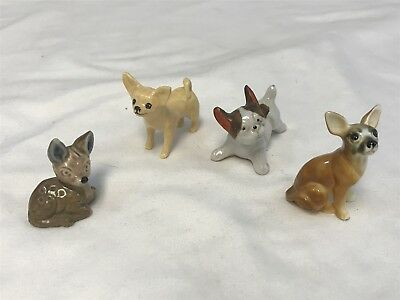 Lot of 4 Vintage Miniature CHIHUAHUA Figurines L15