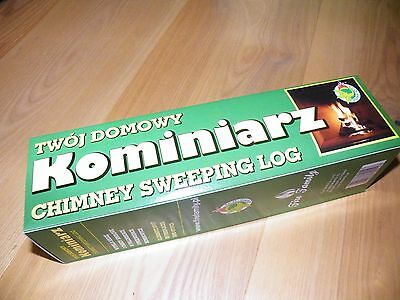 CHIMNEY CLEANING LOG SWEEPER FLUE SOOT and FIREPLACE CLEANER,ECO-SHINE product