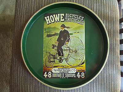 Howe Bicycles Tricycles Tin Serving Tray Nevco of Hong Kong