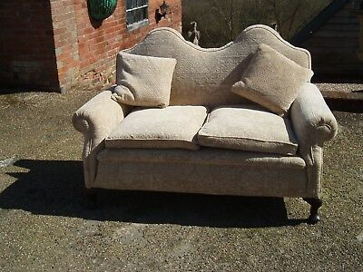 victorian 2 seater sofa / settee. Newly upholstered