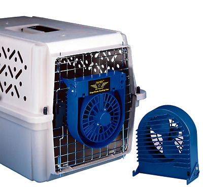 Metro AirForce Pet Dog Cat Cooling Crate Cage Carrier Travel Fan Summer Heatwave