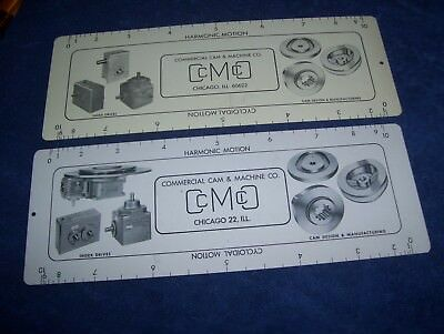 Vintage Commercial Cam & Machine Motion Calculator Ruler Parabolic Cycloidal