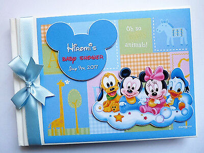 Personalised Baby Disney Birthday / Baby Shower Guest Book - Any Design