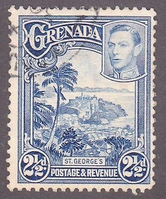 Grenada, 1938, 2.5d black and blue, SG157, Sc136, used.