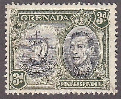 Grenada, 1938, 3d black and olive, SG158a, Sc137a, used.