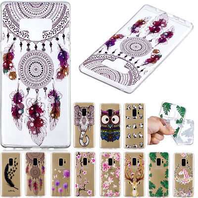 New Ultra Thin TPU Clear Pattern Silicone Gel Back Case Cover For Samsung Huawei