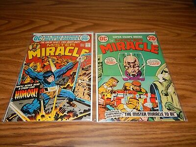 Lot Of 2 Bronze Age Comics Mister Miracle #'s 9 & 10 FN+ Condition
