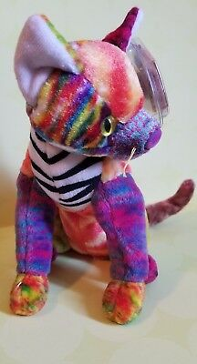 7e055f48cc7 TY BEANIE BABY Kaleidoscope Cat Plush DOB June 24