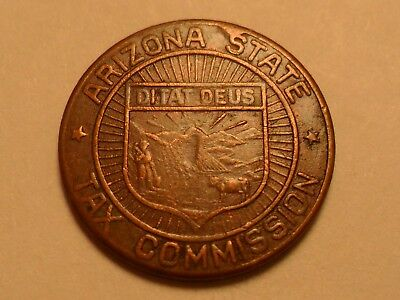 "Undated ""high Grade"" Arizona State Tax Commission Sales Token ""to Make Change.."""